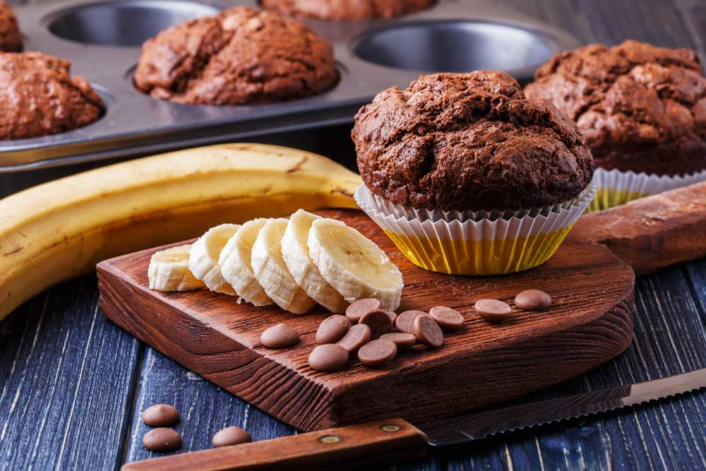 Cannabutter Banana Muffins